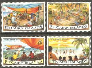 PITCAIRN ISLAND Sc# 427 - 430 MNH FVF Set-4 Beach Party