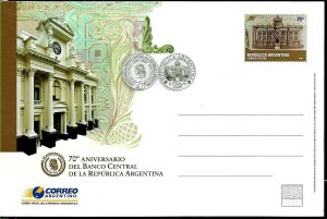 PS-165 ARGENTINA 2005 P STATIONARY CENTRAL BANK NUMISMATICA  UNUSED