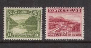 Newfoundland #140 - #141 Very Fine Never Hinged Duo