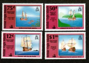 British Virgin Islands 721-724 Mint NH Discovery Voyages!
