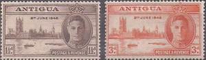 ANTIGUA - 1946 - Victory - 2v Set - M N H