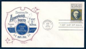 UNITED STATES FDC 6¢ Edgar Lee Masters 1970 Artopages