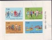 Finland Sc 793a 1989 Sports stamp booklet pane mint NH