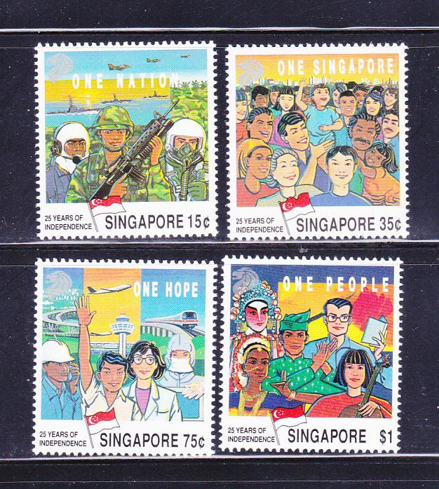 Singapore 576-579 Set MNH Independence Anniversary
