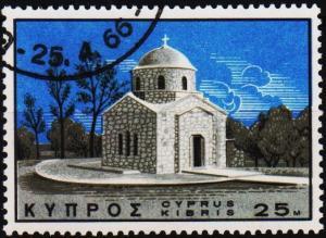 Cyprus. 1966 25m S.G.275 Fine Used