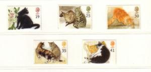 Great Britain Sc 1586-90 1995 cat stamp set mint NH