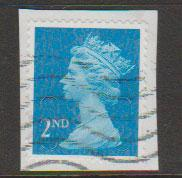 GB QE II Machin SG U2963 - 2nd brt blue -  M13L - Source  T