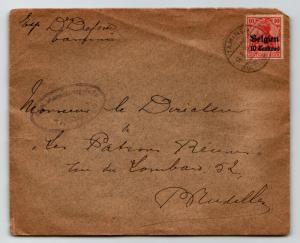 Belgium WWI Occupation Cover to Brussels / Sm Edge Tear - Z13417