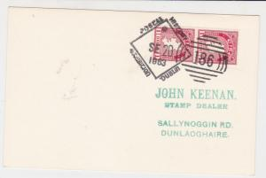 ireland dublin 1963 postal history special cancel stamps card ref 20345