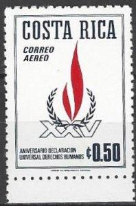 Costa Rica  C577  MNH  UN Human Rights  25th Anniversary