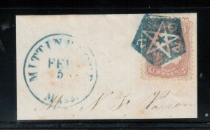 USA #65 Used With Union Star In Pentagon Complete Blue Strike **W\ Certificate**