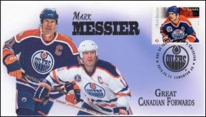 CA16-038, 2016, FDC, Canadian Forwards, Mark Messier, Day of Issue,