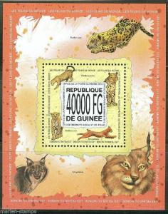 GUINEA 2013 WILD CATS OF THE WORLD  SOUVENIR SHEET MINT NH