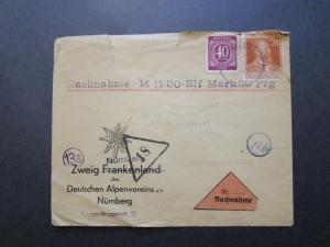 Germany 1947 Registered Cover / Top Tear & Creasing - Z7160