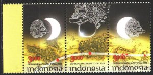 Indonesia. 2016. 3234-36. Solar eclipse. MNH.