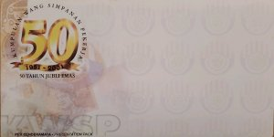 O) MALAYSIA, COVER - ENVELOPE, EMPLOYEE BENEFIT MONEY, GOLDEN JUBILEE YEAR, UNUS