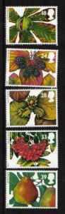 Great Britain 1993 MNH the four seasons  fruits and leaves