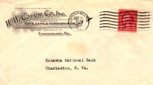United States Virginia Lynchburg 1930 machine   Illustrated Corner card W. W....