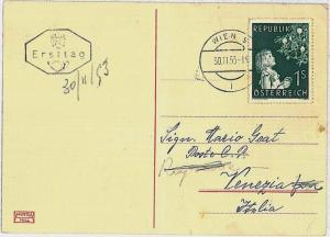 RELIGION \  CHRISTMAS : AUSTRIA -  POSTAL HISTORY-  Stamp on POSTCARD : 1953