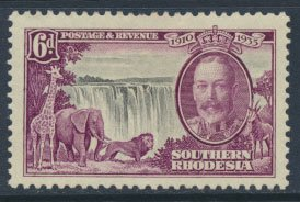 Southern  Rhodesia  SG 34 SC# 36  MH  Silver Jubilee  see scans  and detail