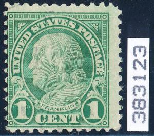 #594 FINE USED COMPLETELY SOUND W/ VERY LIGHT CANCEL; PFC (2x) CV $10,500 WL2571