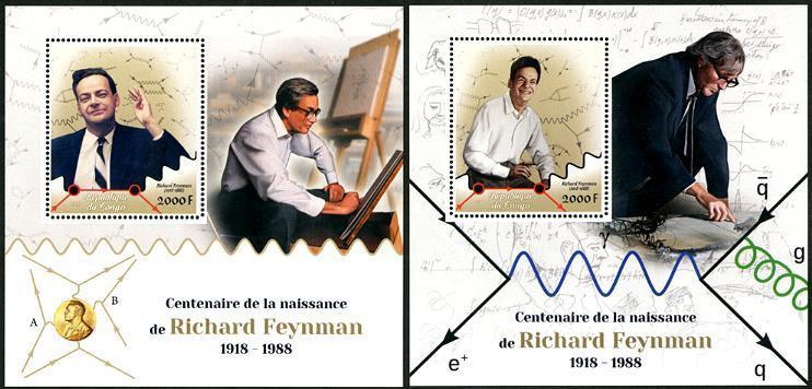 HERRICKSTAMP NEW ISSUES CONGO Richard Feynman Physics S/S