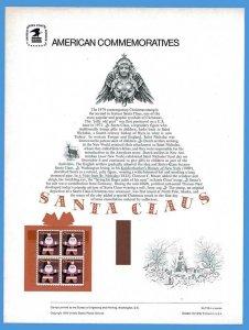 USPS COMMEMORATIVE PANEL #118 SANTA CLAUS #1800