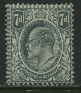 GB KEVII 1909 7d gray DLR mint o.g.