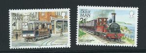 Isle of Man MUH SG 367, 377c  1988 Railways - 1991  ...