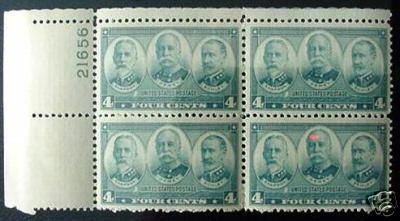USA 793,  4¢ Navy UL Plate Block of 4 MLH