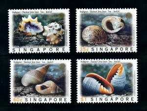 [99588] Singapore 1997 Marine Life Sea shells  MNH
