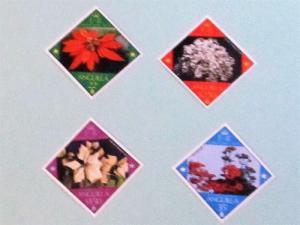 Anguilla - 367-70, MNH Set. Christmas Flowers. SCV - $1.80
