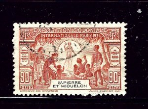 St Pierre and Miquelon 134 Used 1931 Paris Expo
