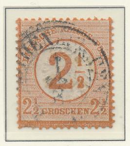 Germany Stamp Scott #27, Used - Free U.S. Shipping, Free Worldwide Shipping O...