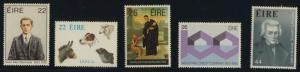 Ireland 568-72 MNH Dog, SPCA, Famous People, Banking