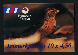 Faroe Islands 314a Booklet MNH Birds