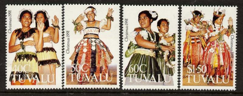 Tuvalu 582-5 MNH Traditional Dance Costumes