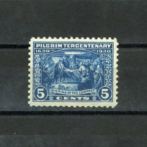 UNITED STATES 5c PILGRIM  SCOTT#550   NEVER HINGED  XF/SUPERB   SCOTT $ 65.00