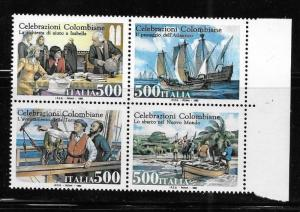 Italy 1992 Columbus Discovery of America 500th anniversary Sc 1880a MNH B76