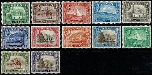 ADEN KGVI 1939-48 1/2a - 10R FULL SET UNUSED (MH) SG16-27 Wmk.MSCA P.12.5 VGC