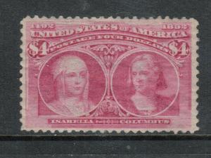USA #244 Mint Fine - Very Fine Full Original Gum Hinged - Gum Is Bit Disturbed