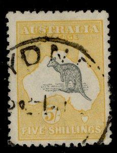 AUSTRALIA GV SG30, 5s grey and yellow, FINE USED. Cat £350.