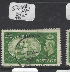 BRITISH PO EASTERN ARABIA, MUSCAT  (P1905B)  ON GB KGVI 2R/2/6 SG 41  VFU