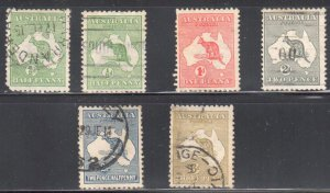 Austalia #1, 3 to 5 USED and #2 Mint H