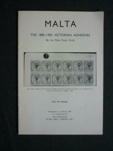 MALTA THE 1885-1902 VICTORIAN ADHESIVES by THE MALTA STUDY CIRCLE