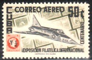 1955 Cuba Stamps Sc C126 Plane Convair Jet  Fighter NEW