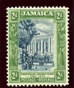 Jamaica 1925 KGV 2d indigo & grey-green MLH. SG 97a.