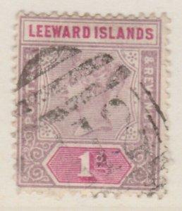 LEEWARD ISLANDS 1890 1d Very Fine Used A8P11F161