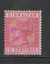Gibraltar Sc 30 1889 10c  Victoria stamp used