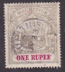Mauritius # 136, Coat of Arms, Used, 1/3 Cat.